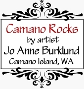 painted rocks by Camano Rocks, hand painted rocks